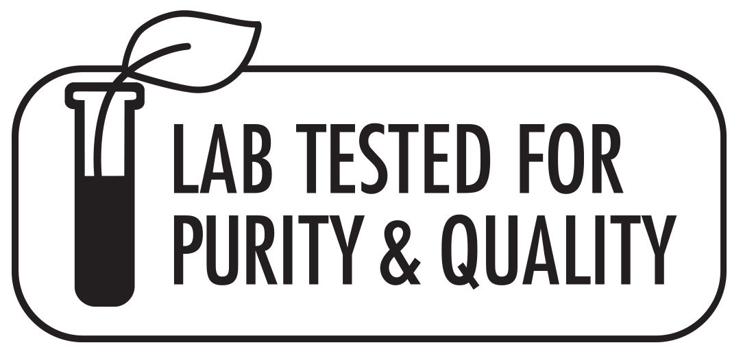 Lab Tested for Purity % Quality